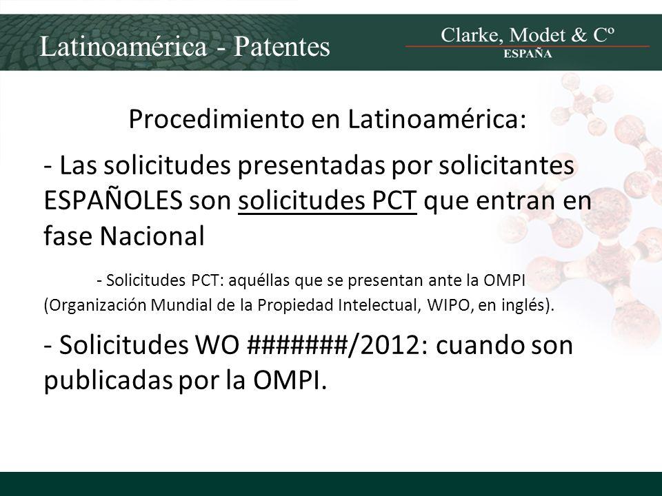 Procedimiento en Latinoamérica: