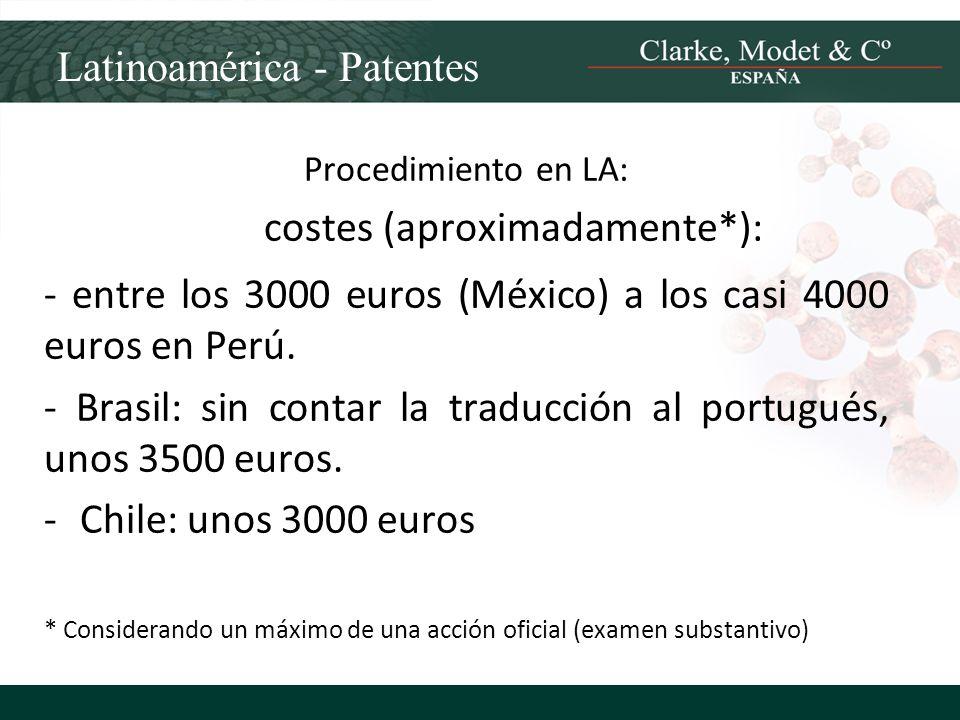 costes (aproximadamente*):