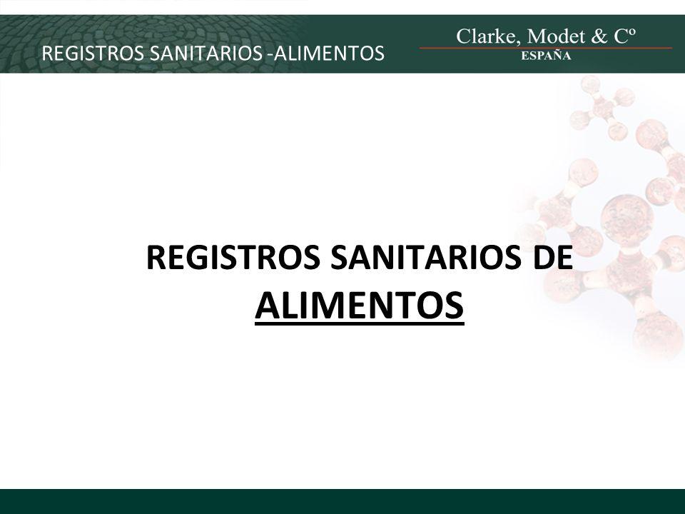 REGISTROS SANITARIOS -ALIMENTOS