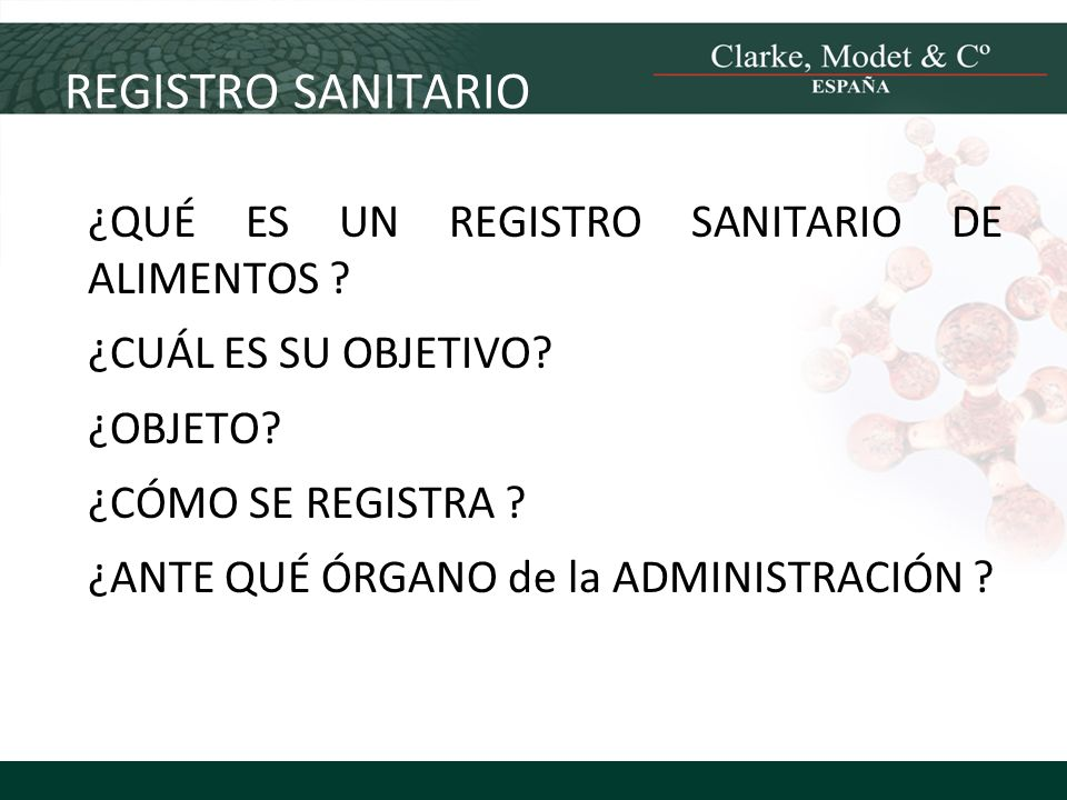 REGISTRO SANITARIO ¿QUÉ ES UN REGISTRO SANITARIO DE ALIMENTOS