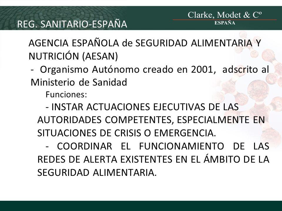 AGENCIA ESPAÑOLA de SEGURIDAD ALIMENTARIA Y NUTRICIÓN (AESAN)