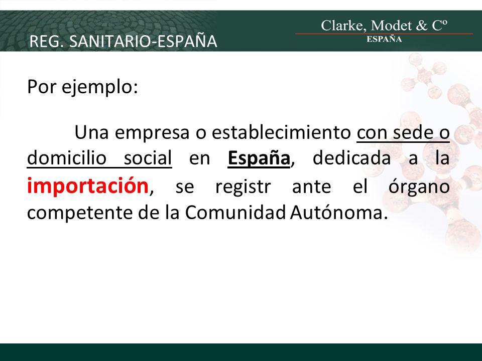 REG. SANITARIO-ESPAÑA