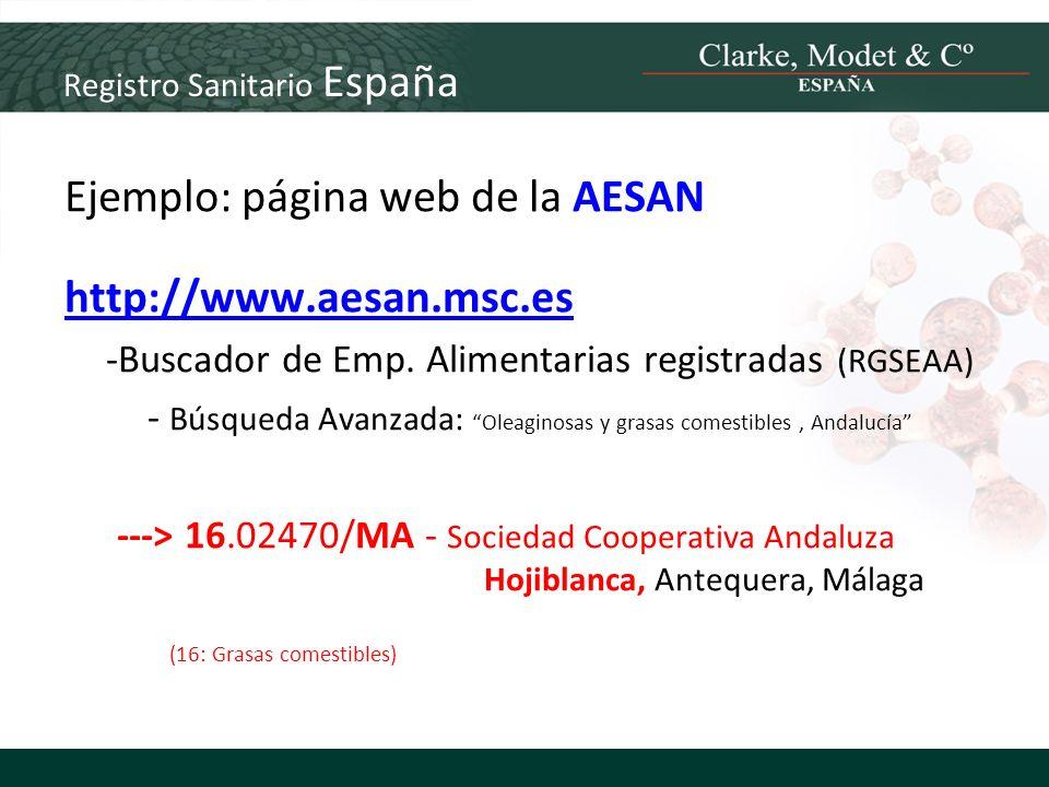 Registro Sanitario España