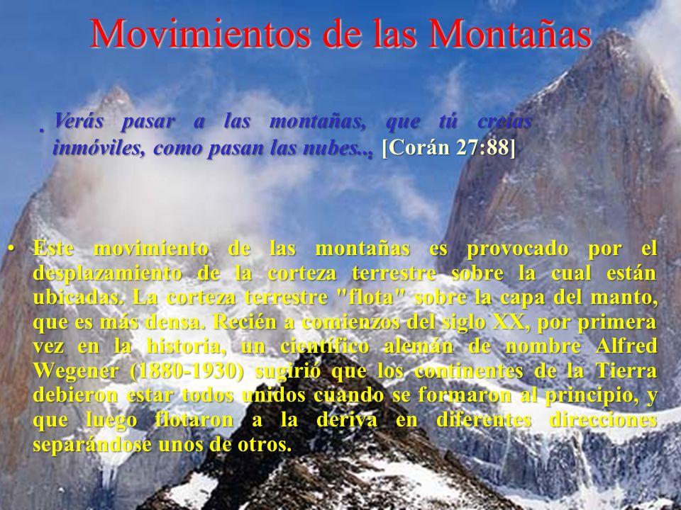 Movimientos de las Montañas