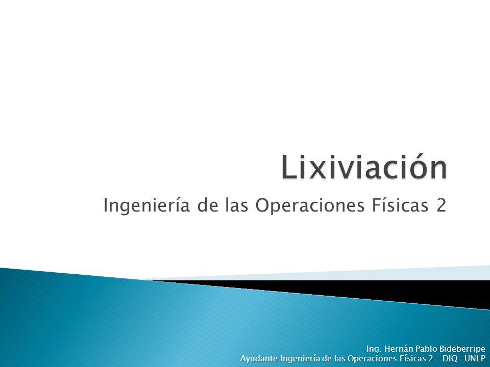Ingeniería de las Operaciones Físicas 2