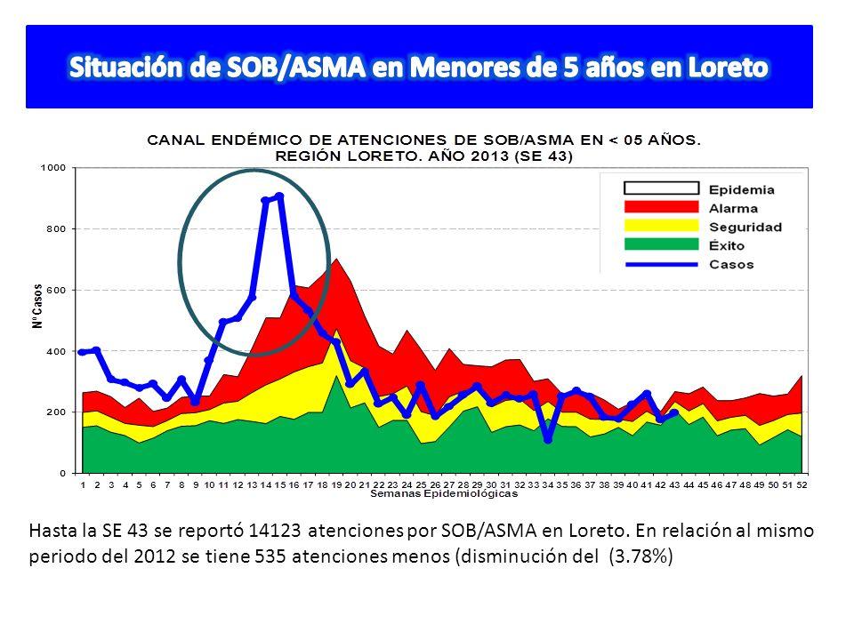 Situación de SOB/ASMA en Menores de 5 años en Loreto