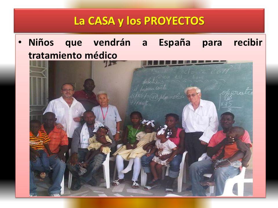 La CASA y los PROYECTOS Niños que vendrán a España para recibir tratamiento médico