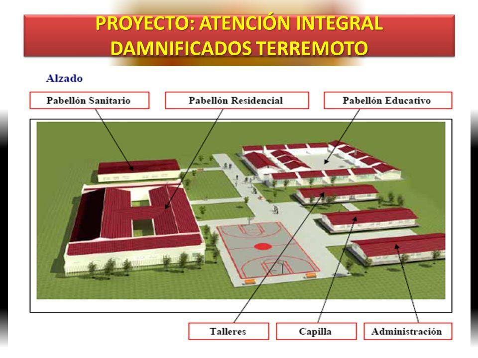 PROYECTO: ATENCIÓN INTEGRAL DAMNIFICADOS TERREMOTO