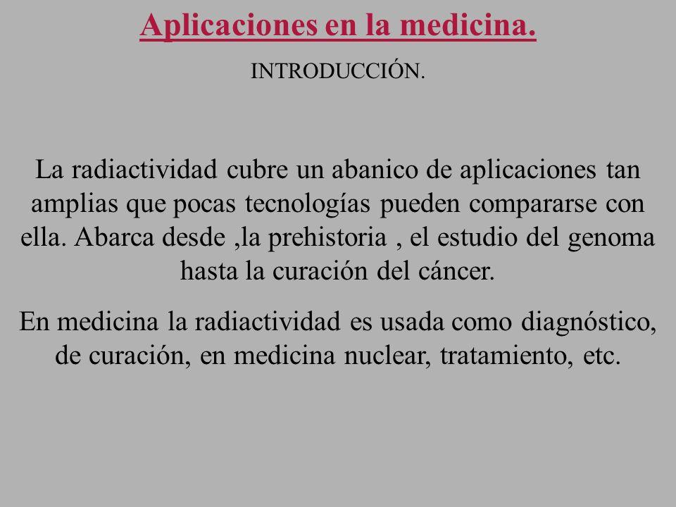 Aplicaciones en la medicina.