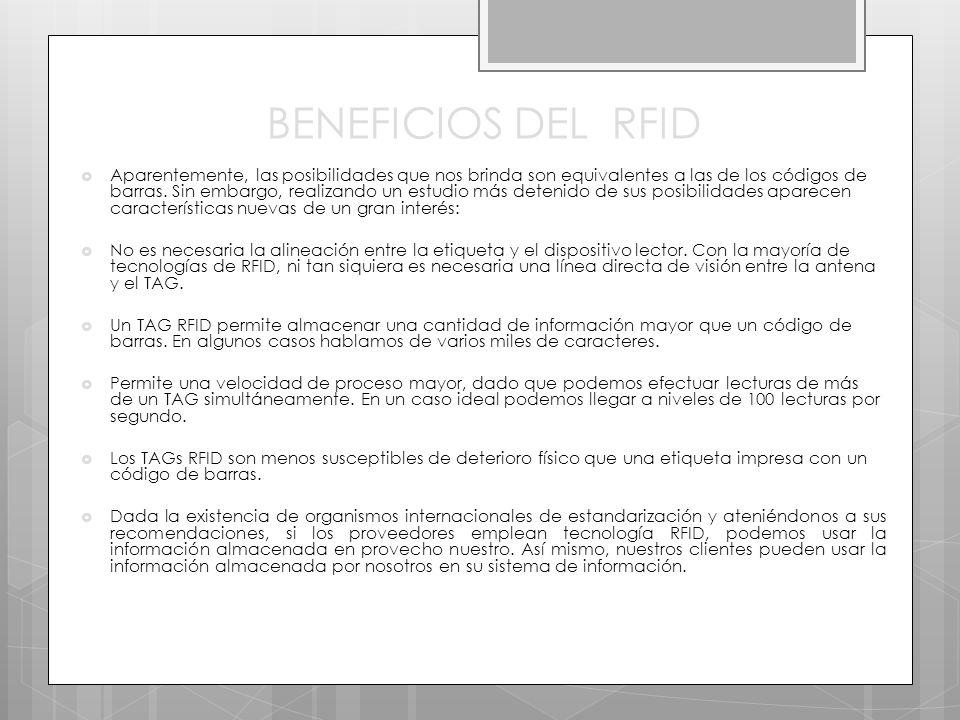 BENEFICIOS DEL RFID