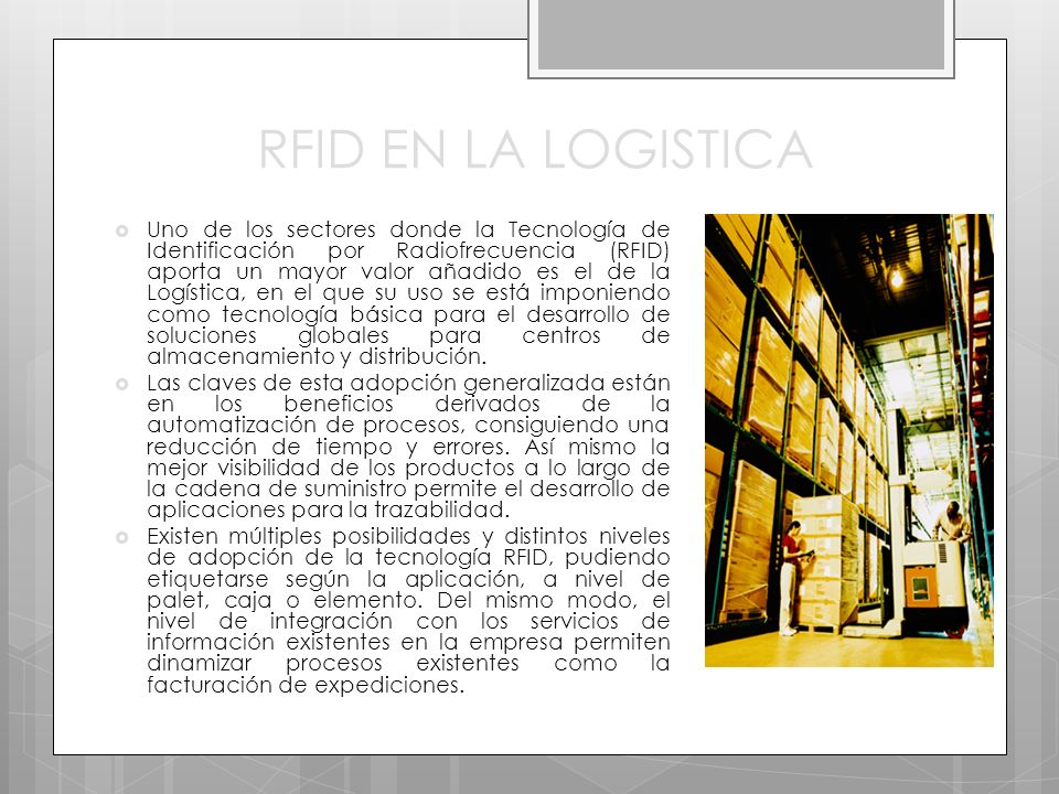 RFID EN LA LOGISTICA