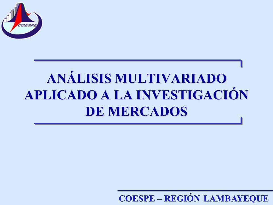 ANÁLISIS MULTIVARIADO APLICADO A LA INVESTIGACIÓN DE MERCADOS