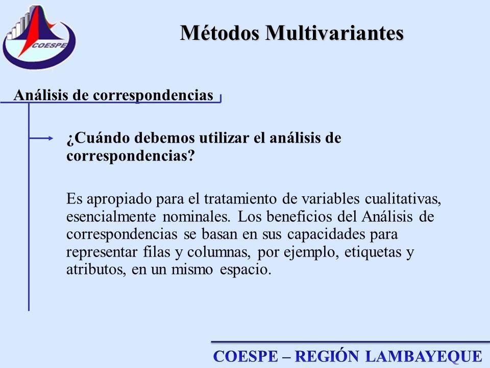 Métodos Multivariantes