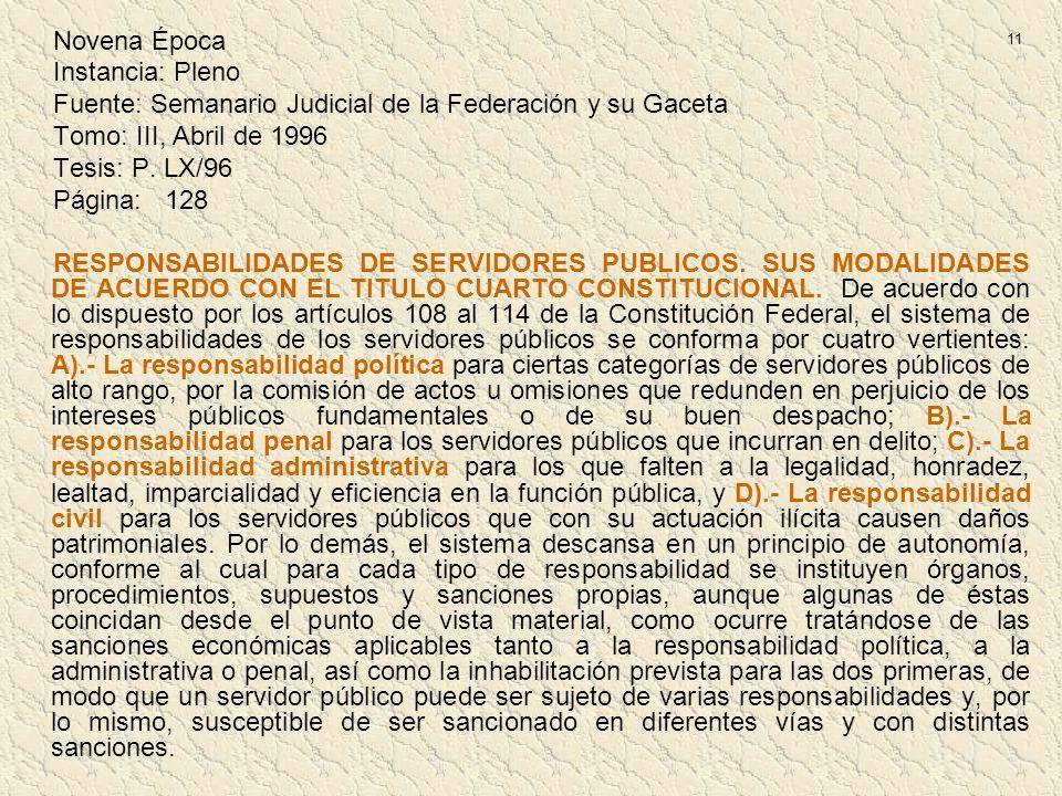 Fuente: Semanario Judicial de la Federación y su Gaceta