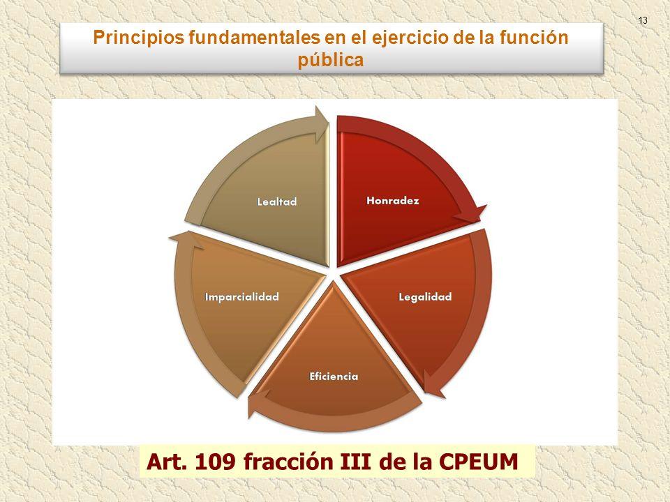 Principios fundamentales en el ejercicio de la función pública