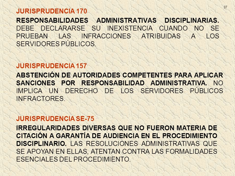 37 JURISPRUDENCIA 170.