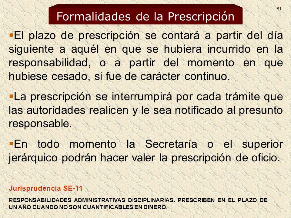 Formalidades de la Prescripción