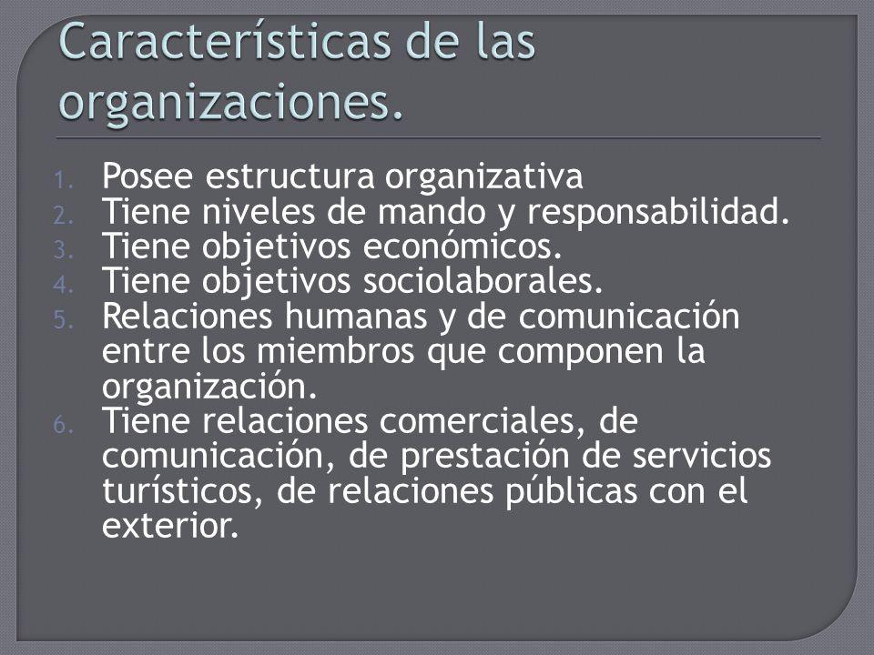 Características de las organizaciones.