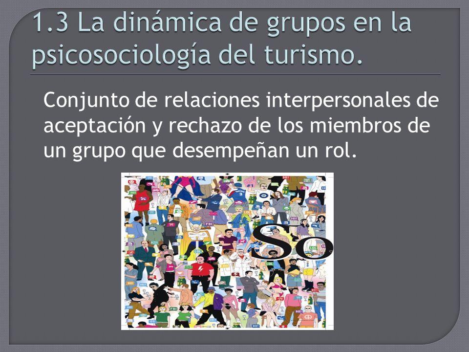 1.3 La dinámica de grupos en la psicosociología del turismo.