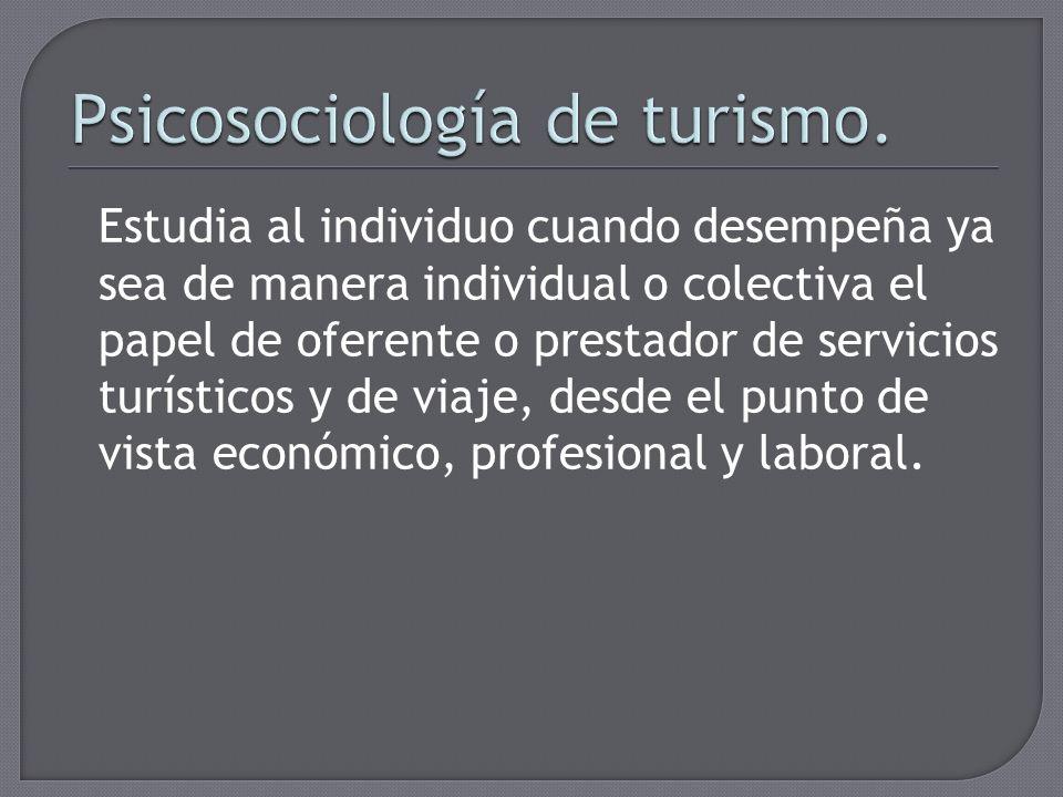 Psicosociología de turismo.