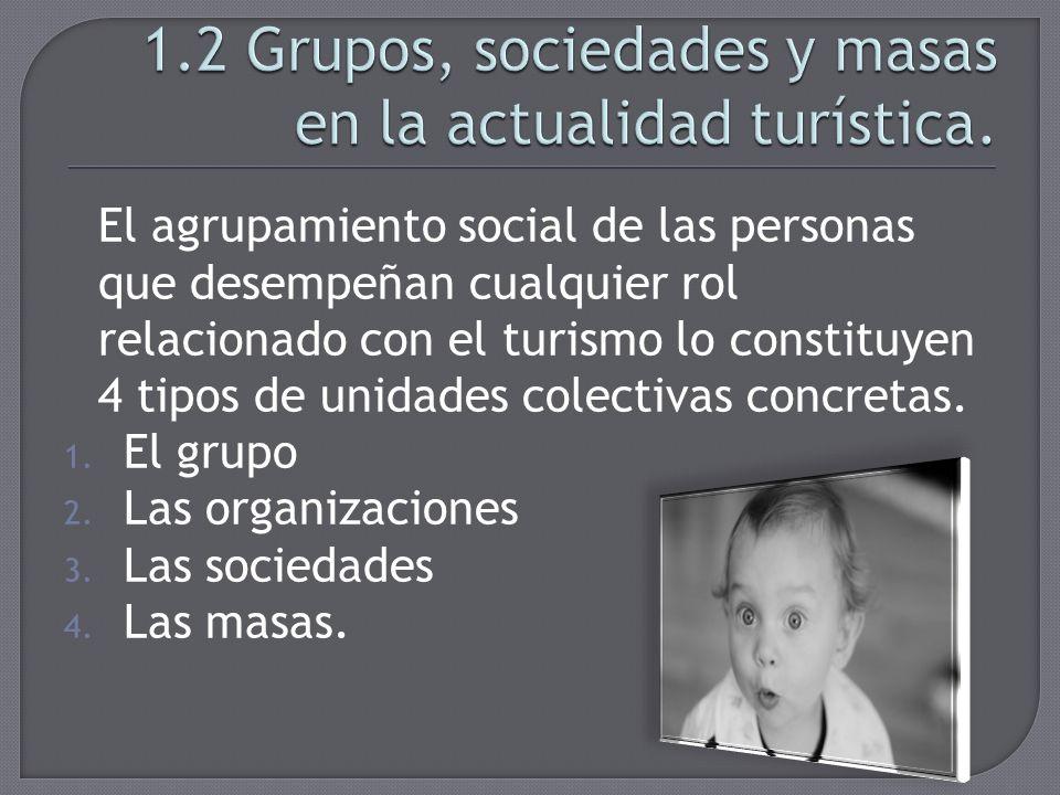 1.2 Grupos, sociedades y masas en la actualidad turística.