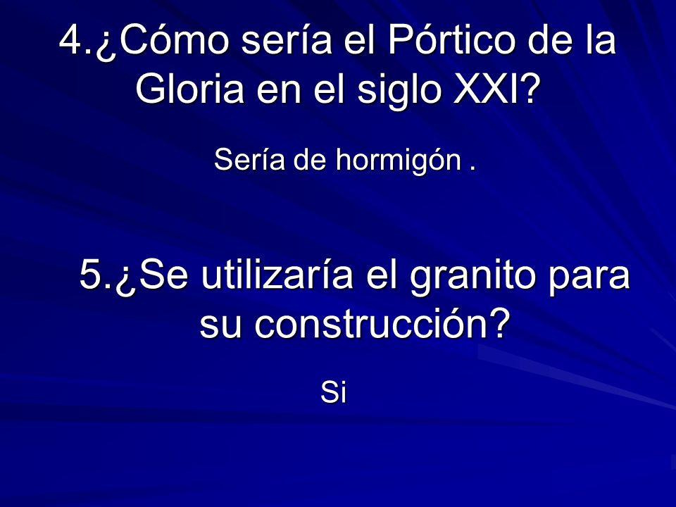 4.¿Cómo sería el Pórtico de la Gloria en el siglo XXI