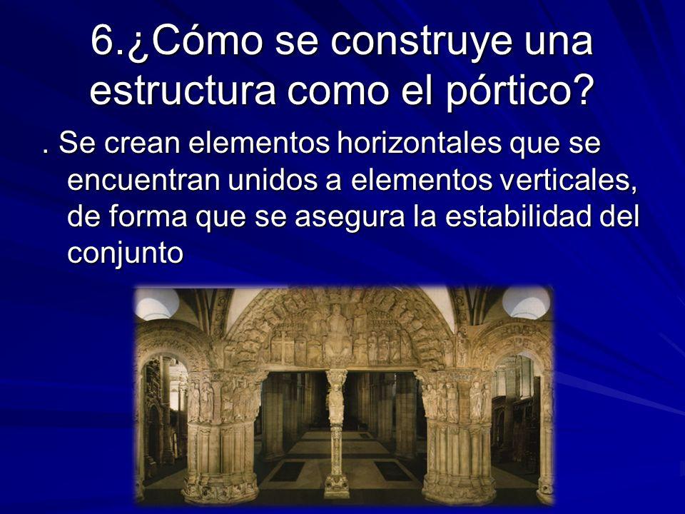 6.¿Cómo se construye una estructura como el pórtico