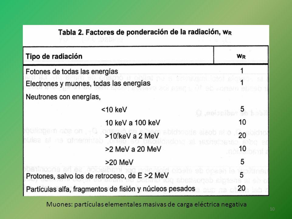Muones: partículas elementales masivas de carga eléctrica negativa
