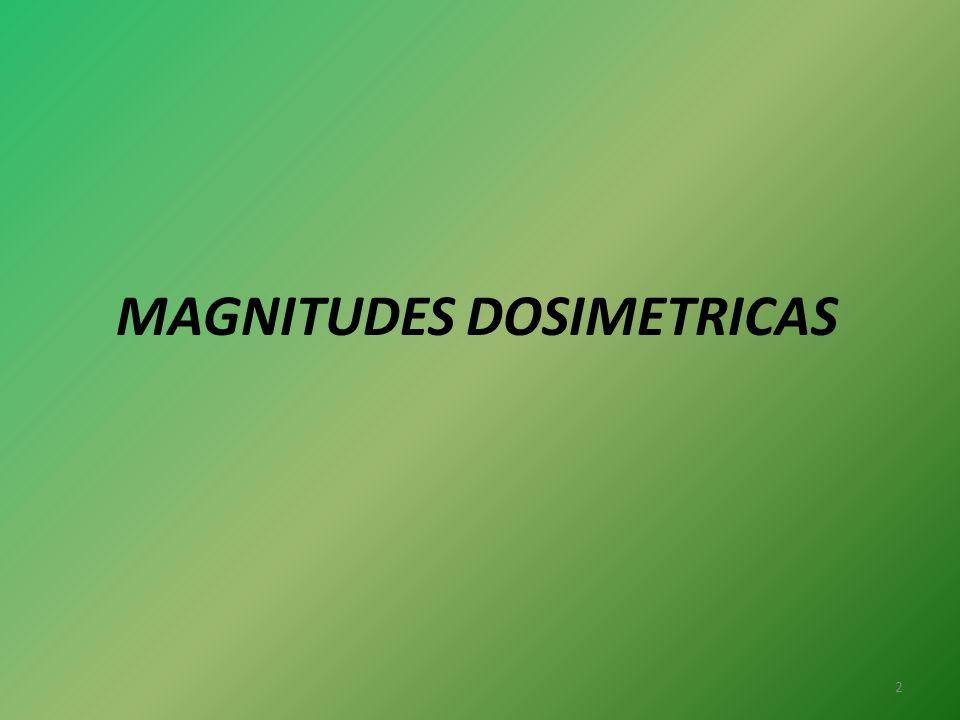 MAGNITUDES DOSIMETRICAS