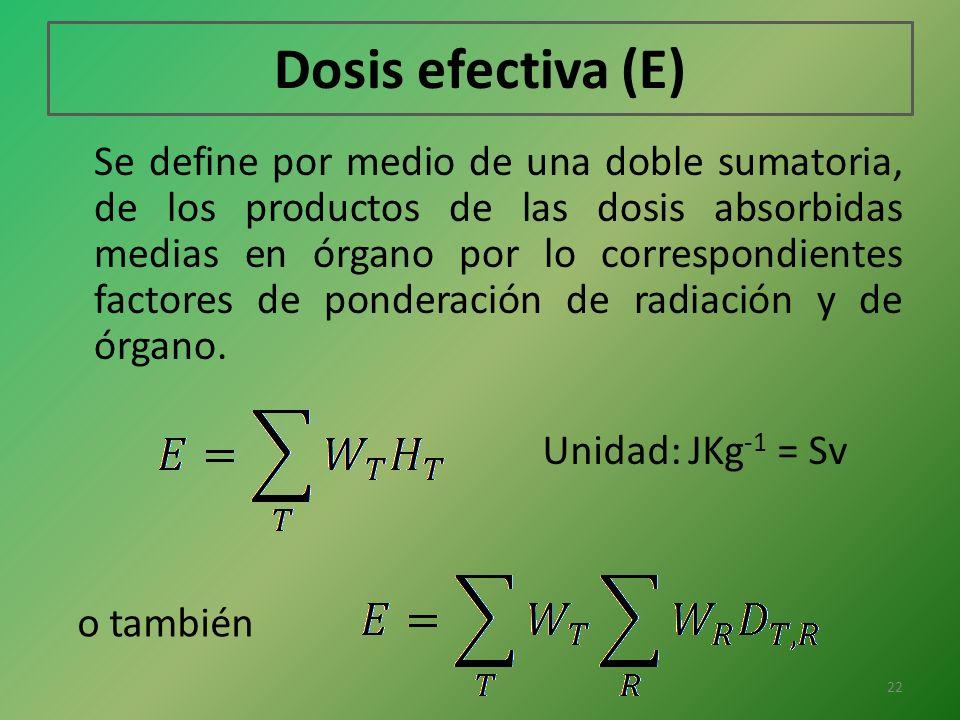 Dosis efectiva (E)