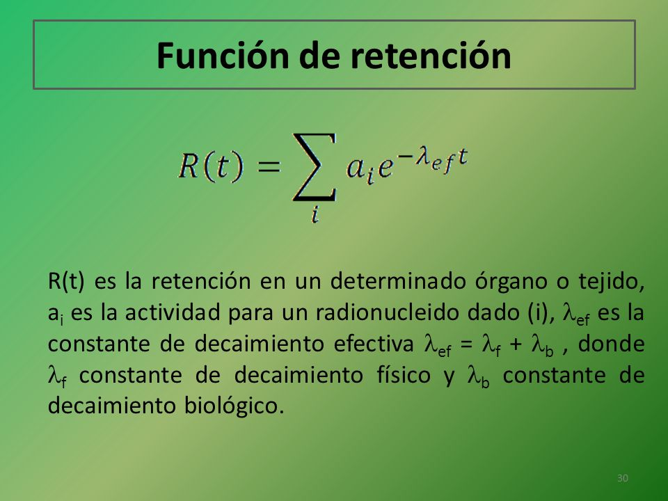 Función de retención