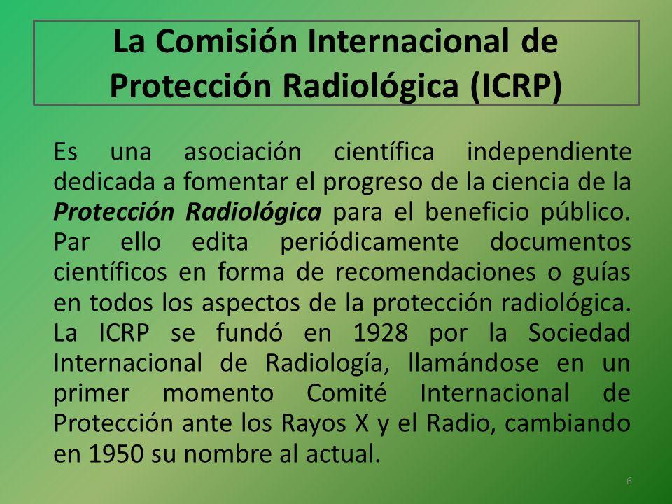 La Comisión Internacional de Protección Radiológica (ICRP)