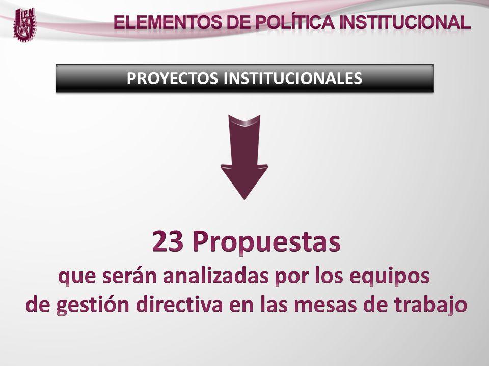 23 Propuestas que serán analizadas por los equipos