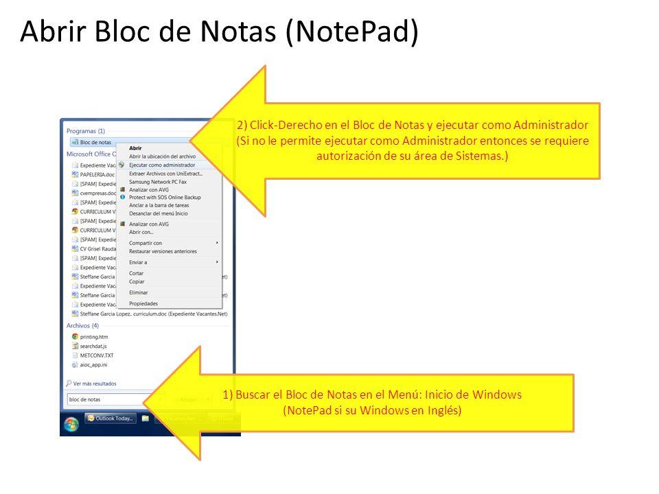 Abrir Bloc de Notas (NotePad)