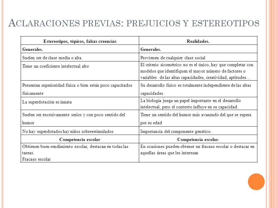 Aclaraciones previas: prejuicios y estereotipos