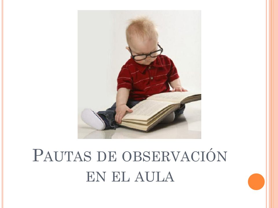 Pautas de observación en el aula