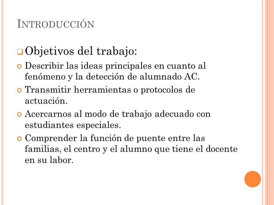 Objetivos del trabajo: