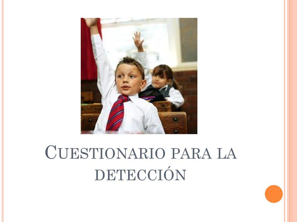 Cuestionario para la detección