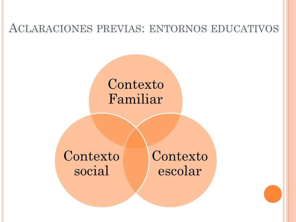 Aclaraciones previas: entornos educativos