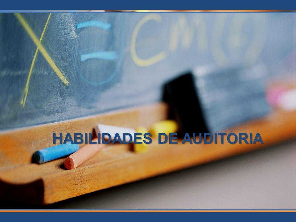 HABILIDADES DE AUDITORIA