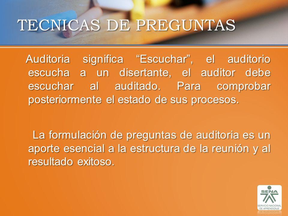 TECNICAS DE PREGUNTAS