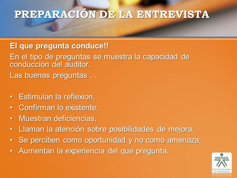 PREPARACIÓN DE LA ENTREVISTA