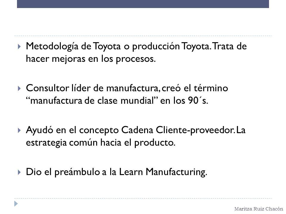 Metodología de Toyota o producción Toyota