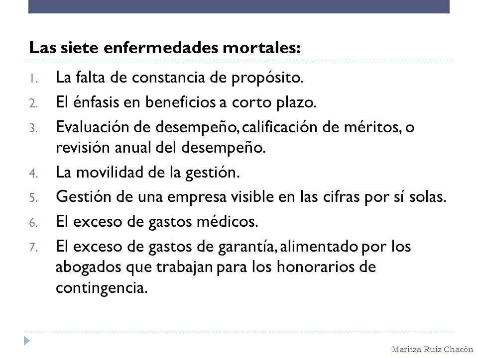 Las siete enfermedades mortales: