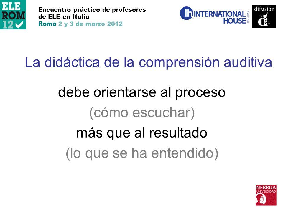 La didáctica de la comprensión auditiva