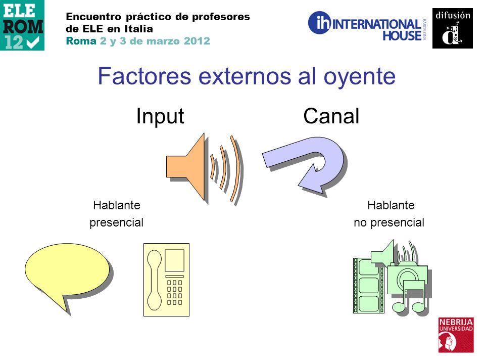 Factores externos al oyente