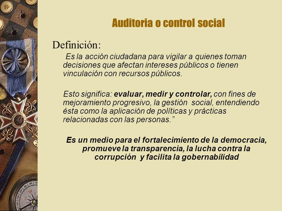 Auditoria o control social