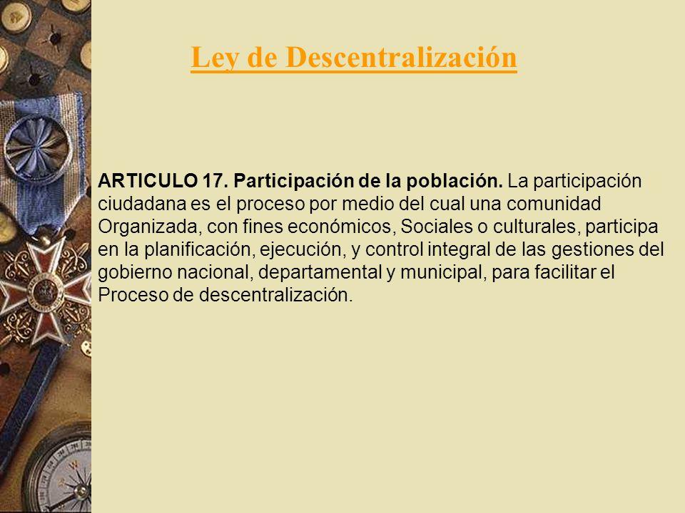 Ley de Descentralización