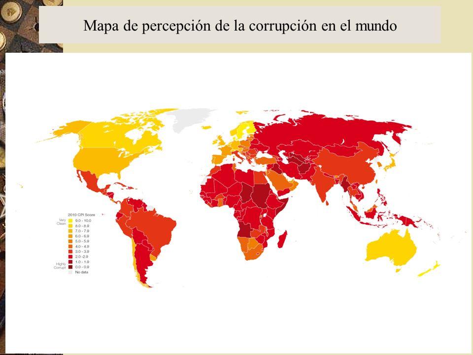 Mapa de percepción de la corrupción en el mundo