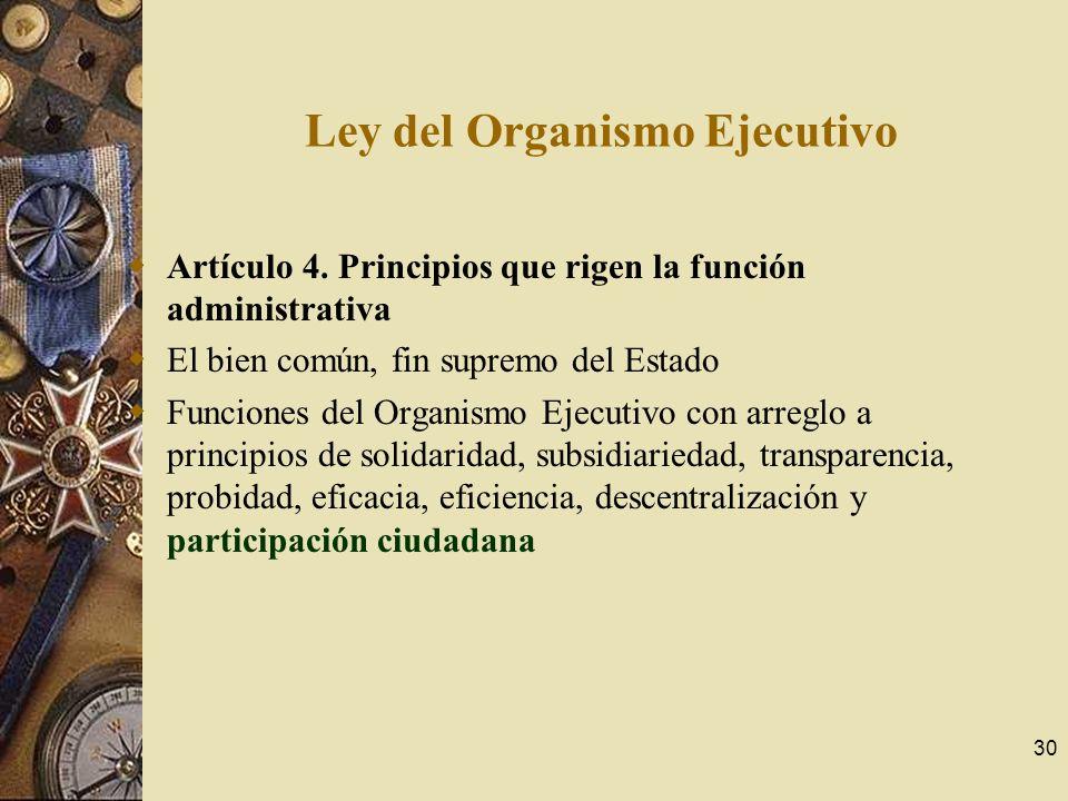 Ley del Organismo Ejecutivo
